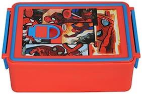 Marvel Spiderman Plastic Lunch Box Set, 960ml, Red/Blue