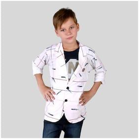 Mashup Boy Cotton blend Checked Shirt White