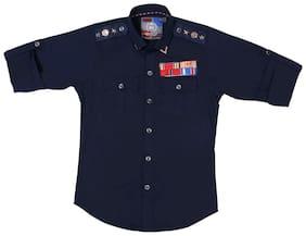 Mashup Designer Navy Blue Shirt