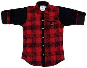 Mashup Boy Cotton Checked Shirt Multi