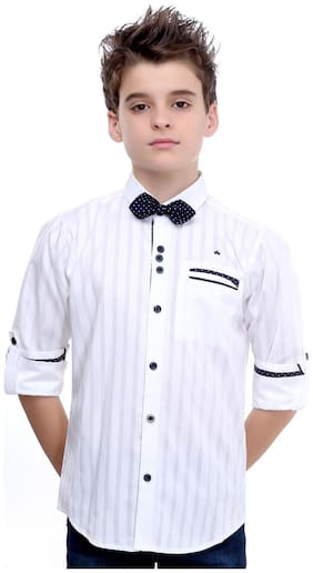 MashUp Red Carpet Collection White Shirt with Bow