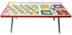 MASTERFIT Wooden multipurpose ludo cum study table for kids