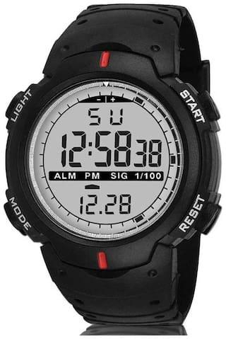 Mastrena Digital White Dial Sports Boy's Watch-MSG1036
