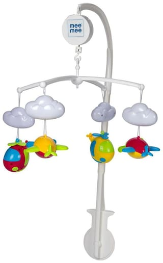Mee Mee 3 in 1 Musical Airplanes Cot Mobile (Multicolor)