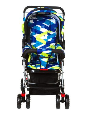 Mee Mee Baby Pram with Adjustable Seating Positions and Reversible Handle (Blue)