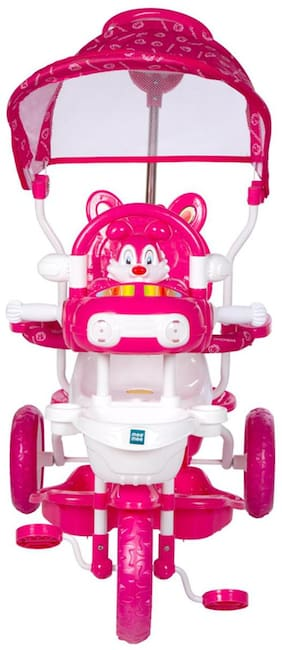 Mee Mee Premium Baby Tricycle with Adjustable Seat (Pink)