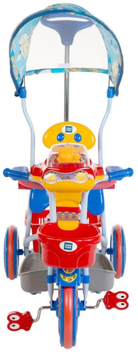 Mee Mee 2 in 1 Baby Tricycle & Rocker with Canopy (Red)