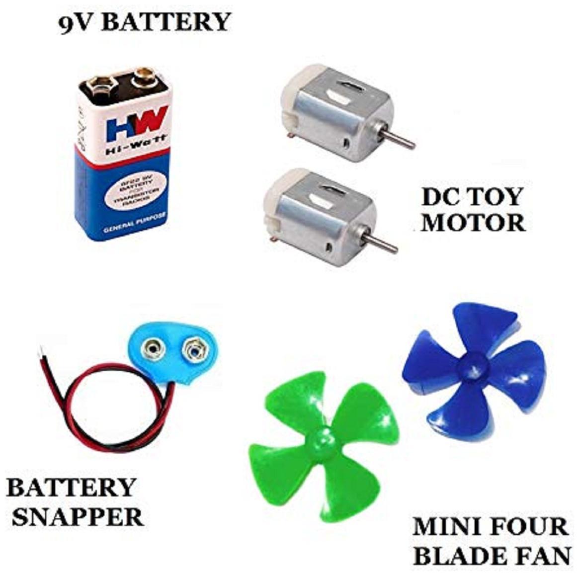 MELODY's MEL-31 Mini Fan Kit - 2 pcs DC Toy Motor, 2...