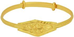 Memoir Gold plated skin safe brass, adjustable bangle/ Kada, for kids and children