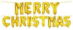 Merry Christmas Golden Letter Foil Balloons Alphabet Foil Balloons for Christmas New year eve party decoration