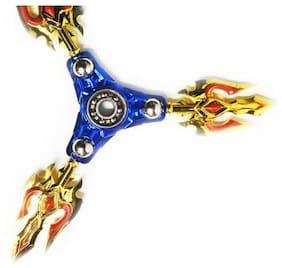 Metal Body Warrior Fidget Hand spinner Toy  (Blue)