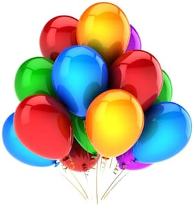 Metallic Balloons;Size 12 inch (Multi-Color of 50) FREE Banner