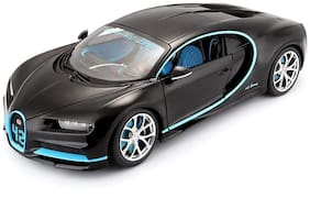 Metro Toys 1:32 Scale Model Bugatti Chiron Super Sports car Metal Model with Light and Sound Open Doors Pull Alloy Toy Wheels