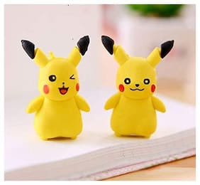 MG WORLD Pack of 36 Pikachu 3D Pencil Erasers for Kids Birthday Gift