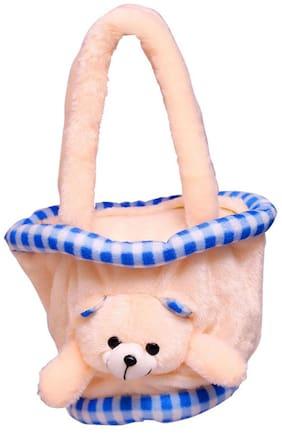MGP Creation Hand Made Peach Teddy Bag - Medium