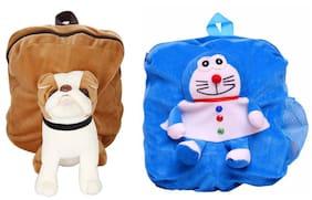 MGP Exclusive Brown Pug Dog & Blue Man Nursery Kids School Bag