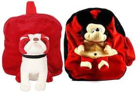 MGP Exclusive Red Pug Dog & Red Micky Nursery Kids School Bag