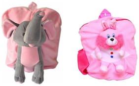 MGP Premium Play School Elephant & Pink Rabbit Kids School Bag
