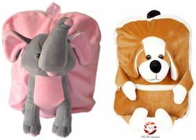 MGP Premium Play School Elephant & Puppy Dog Kids School Bag