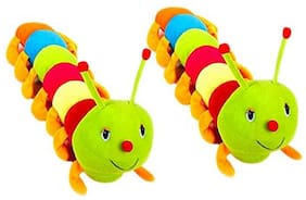 Mgp Toys Colourfull Caterpillars Soft Toy- 55 Cm (combo Of Two)