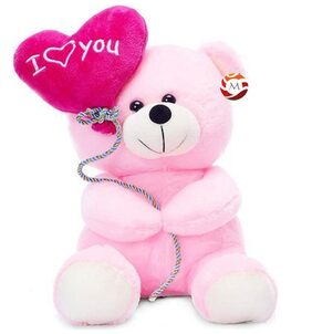 Mgp Toys I Love You Ballon Heart Teddy Bear Pink (20 Cm)