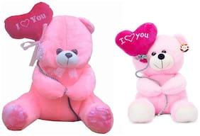 Pink Teddy Bear - 36 cm & 20 cm