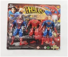 MGT CREATION Present a Superheros Collection 3 in 1 Super Hero Set (Multicolor)