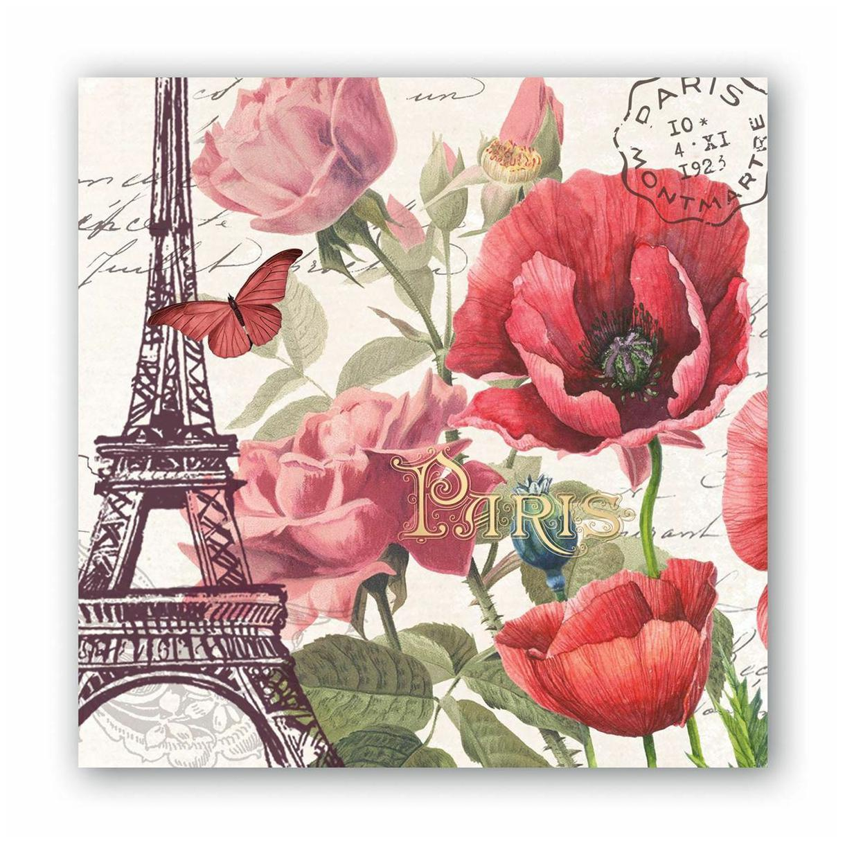 Michel Design Works Paper Cocktail Napkins ~ Fall Harvest With Turkey