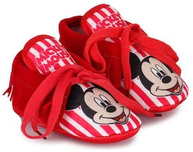 Mickey Red Booties For Infants
