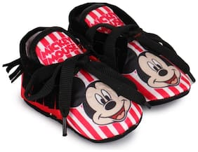 Mickey Black Booties For Infants