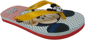 Mickey Kids Boys Yellow Flip-Flop