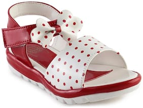MICKEY MINNIE Red Sandals For Infants