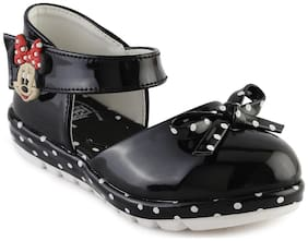 MICKEY MINNIE Black Sandals For Infants