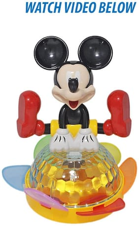 Toysforkids MICKEY MOUSE DAZZLING 4D TOY WITH MUSIC & LIGHT (FREE 3 AA BATTERIES)