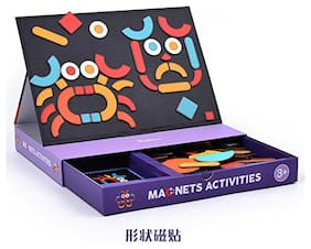 MiDeer Magnetic Activity Board Puzzle Game Educational Toy Set for Kids Boys Girls - Edu Toys