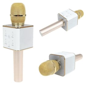 mike with speakers for singing Q7 Portable Multi-Function Bluetooth Microphone Karaoke