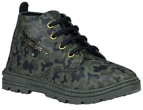 SIM STYLE Green Boys Boots