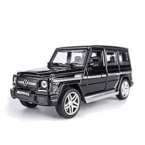 Mini Auto Black 1:32 Scale Diecast Metal Mercedes Benz G65 AMG Pull Back Car Toy with Openable Doors, Light and Sound Effects