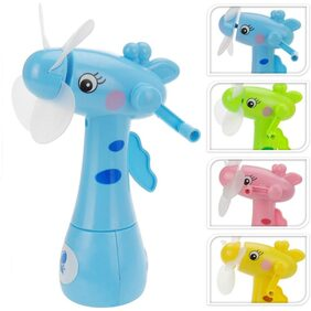 Mini Fan with Water Spray Hand Operated Kids Mini Fan Cool Air Blower Spray Kids Gift Toy