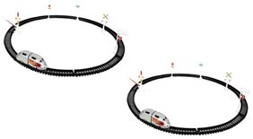 New Pinch Mini High  Speed Track Train For Kids (Pack Of 2)
