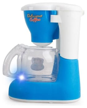 Mini Kitchen Plastic Sound Simulation Coffee Machine for Kids(Blue) #SmileDay
