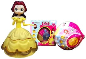 Shanaya Mini Princess Surprise Mystery Magic Egg Box Ball Figure Doll Kids Toy Gift for Girls (ASSORTED MODELS & COLORS)