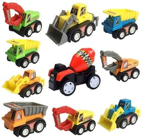 Mini Pull Back Car Truck Model Racing Games Vehicle Play Set Toys for Kids (10 Pcs)