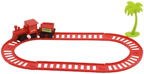 Mini Train Track Set Wind Up Two Track degisns 6 Track 1 tree 1 Loco 1 Boxcar