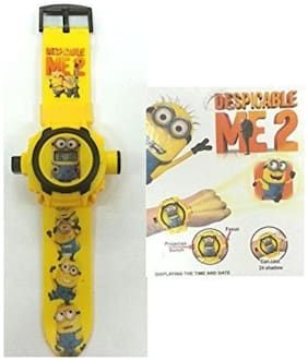 Minion Projector Digital Watch With 24 Images For Kids