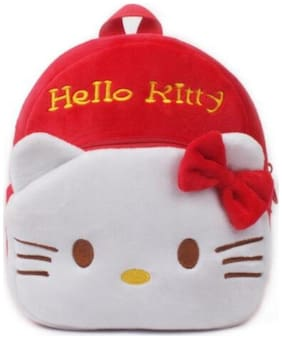 MINITREES Cute Red Kitty Kids School/Nursery/Picnic/Carry/Travelling Bag, 2-5 Years School Bag (Red, 10L)