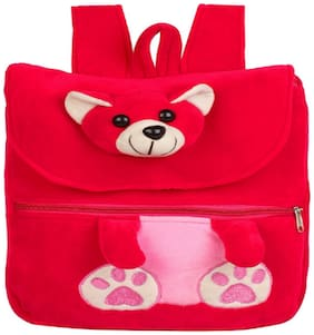 MINITREES Cute Pink Teddy Kids School/Nursery/Picnic/Carry/Travelling Bag, 2-5 Years School Bag (Pink, 10L)