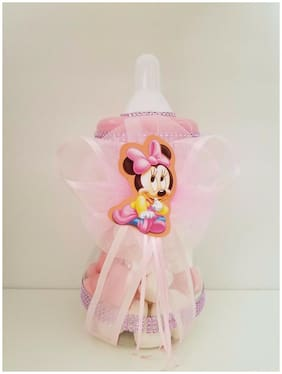 "Minnie Mouse Centerpiece Bottle Large 13"" Baby Shower Piggy Bank Girl Decoration"