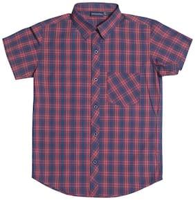 MINT & COTTON Boy Cotton Solid Shirt Red