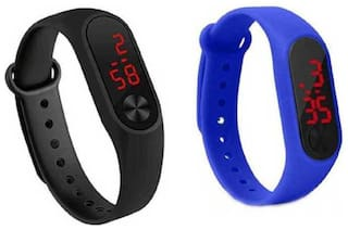 miss perfect Digital led Watch Band Type light digital band Digital Watch set of2